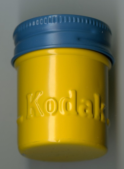 Kodak film cannister owned by Lois M. Bowen