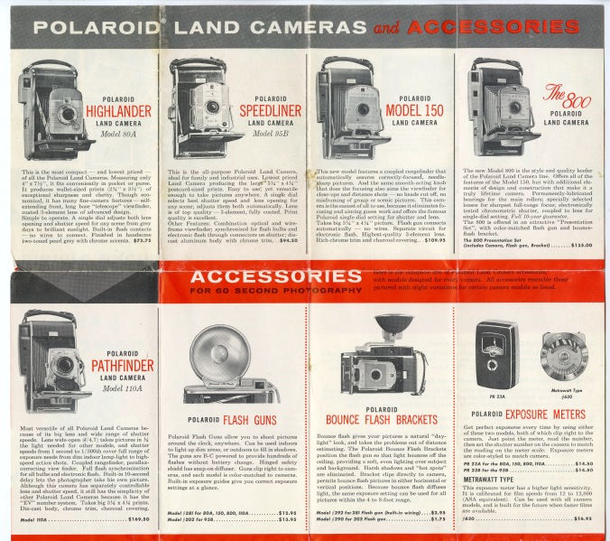 Polaroid Land Camera Catalog (price list)