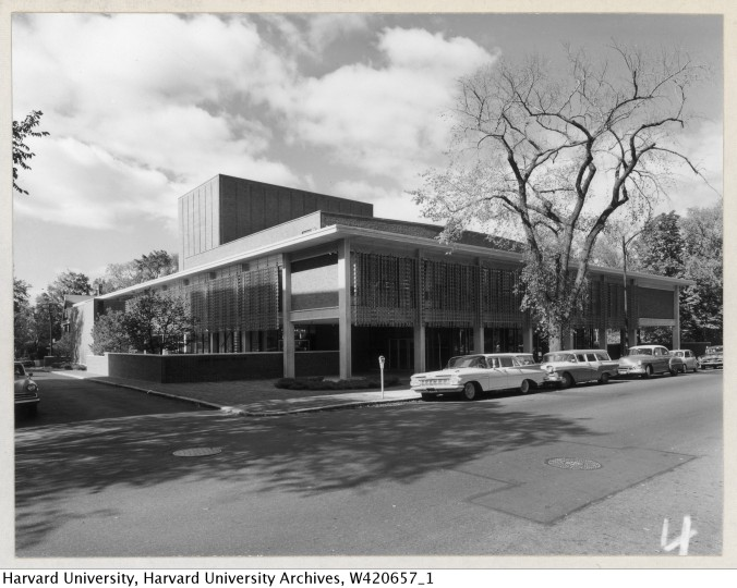 Exterior of Loeb Drama Center_Radcliffe College Archives