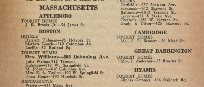 Green Book, 1947, detail of Cambridge entry p 43
