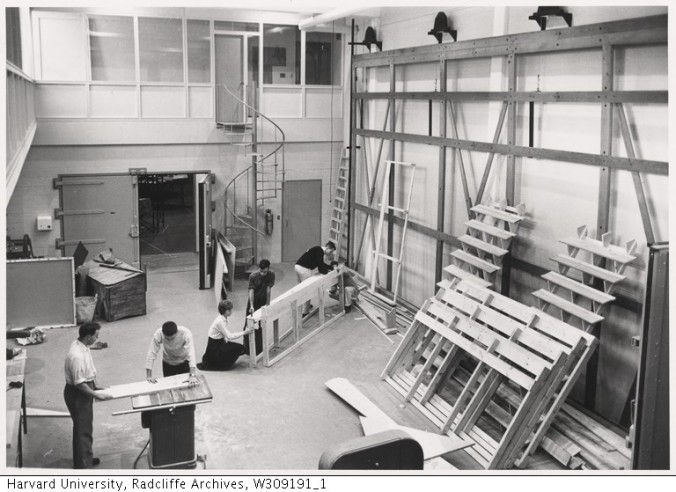 View of Loeb Drama Center setbuilding_Radcliffe College Archives