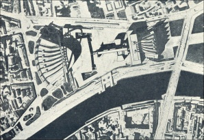 Aerial of the Palace of the Soviets (unbuilt)