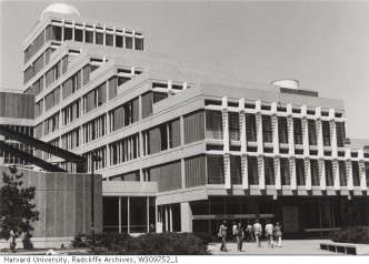 Science Center exterior_Radcliffe Archives_1970s