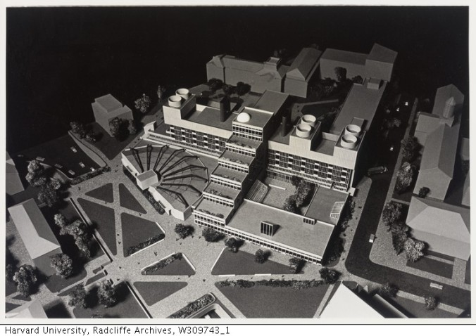 Science Center Model aerial_Radcliffe Archives_1970