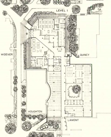 First Floorplan of Pusey Library_Arch Record 09-1976